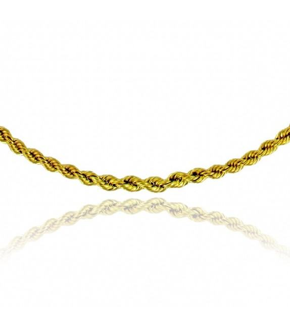 Collier maille corde chute Or 375/00
