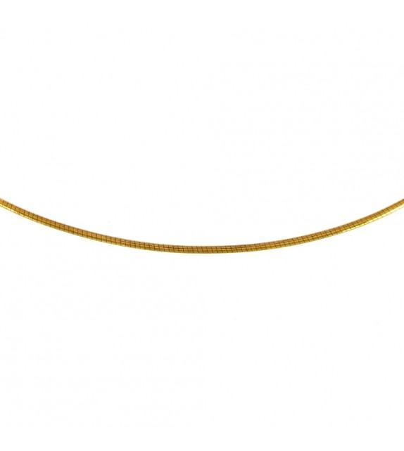 Collier maille omega Or jaune 375/00