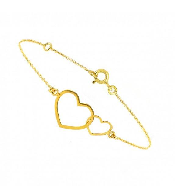 Bracelet coeur Or 375/00
