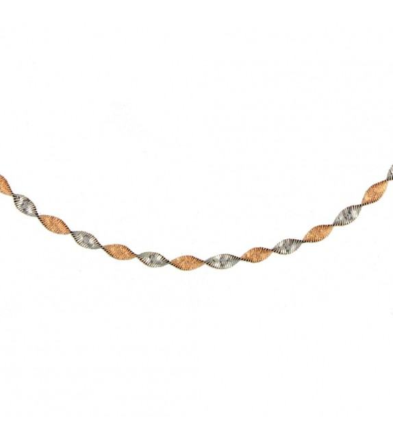 Collier maille torsade Or 375/00
