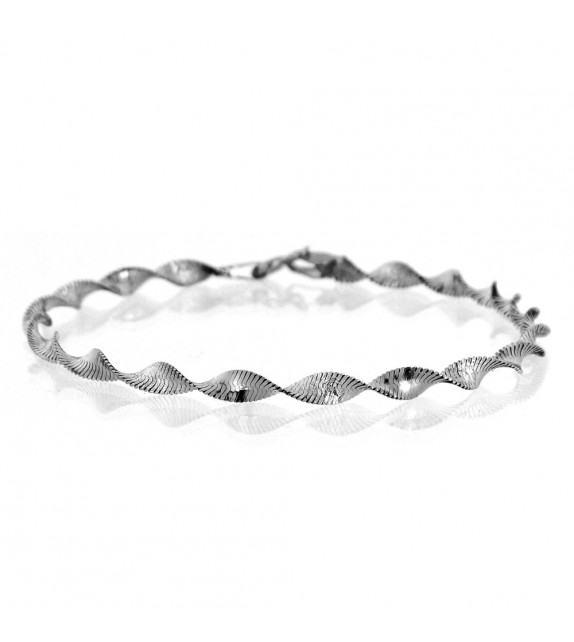 Bracelet maille torsade Or 375/00