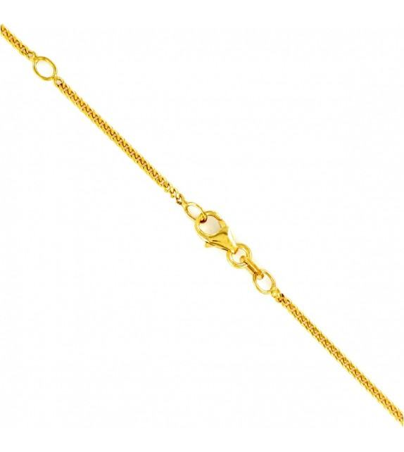 Collier maille gourmette or jaune 375/00