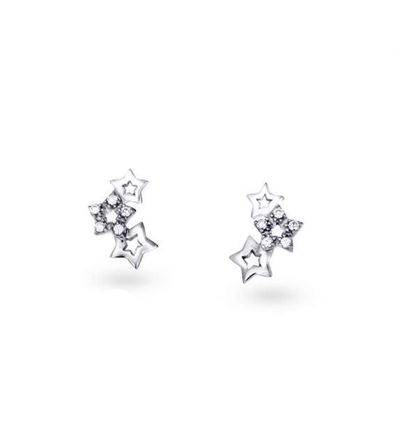 Boucles d'oreilles étoiles Argent 925/00 et zircon