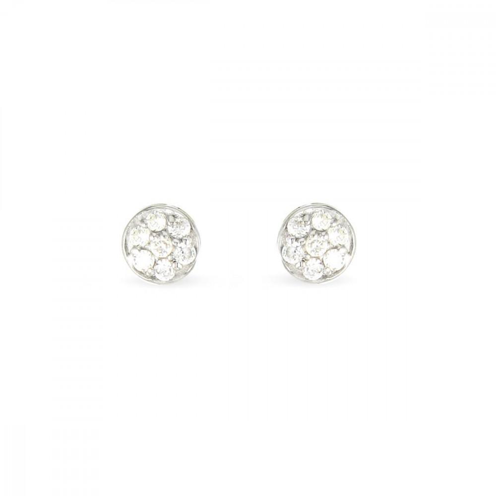 Boucles d'oreilles Argent 925/00 et zircons