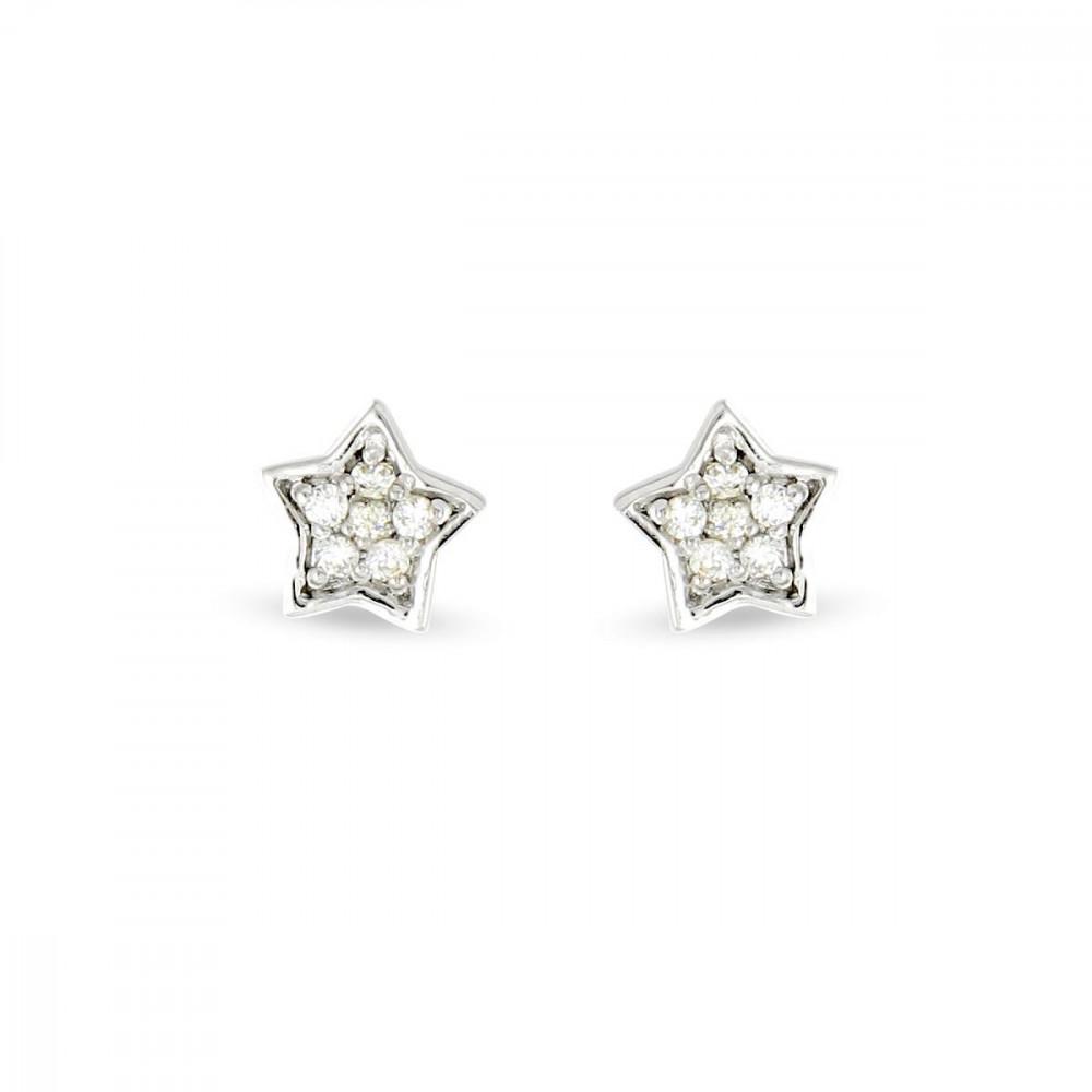 Boucles d'oreilles étoiles Argent 925/00 et zircons