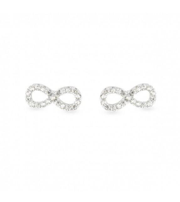 Boucles d'oreilles infini zircon Argent 925/00