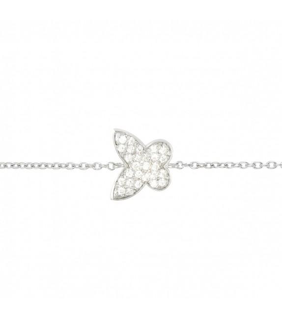 Bracelet papillon en Argent 925/00 et oxydes de zirconium