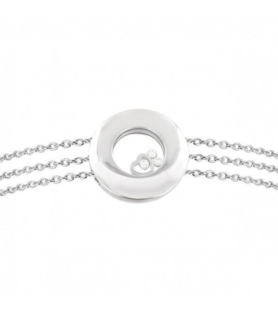 Bracelet en Or 750/00 et diamants libres