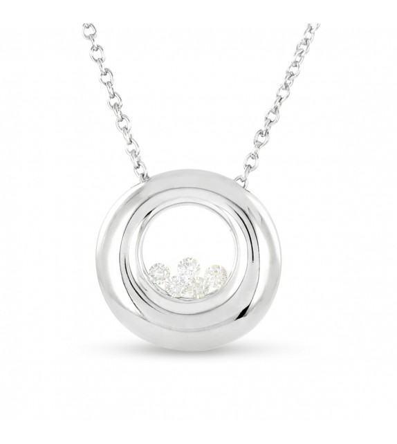 Collier en Or 750/00 et diamants libres