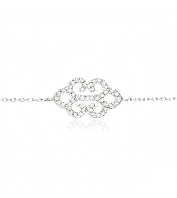 Bracelet rosace en Or 375/00 et diamants