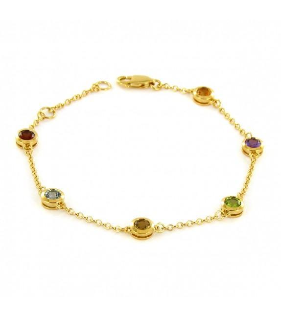 Bracelet pierres fines en Or 375/00