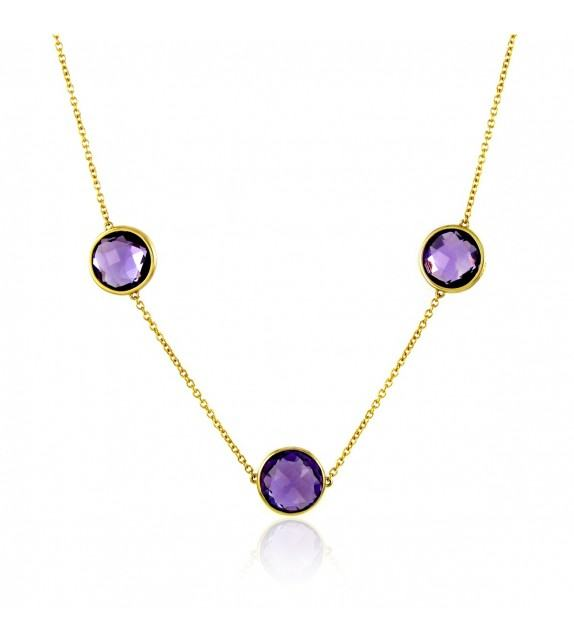 Collier améthystes en Or 375/00