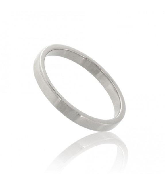 Alliance ruban 2.5 mm Or blanc 375/00