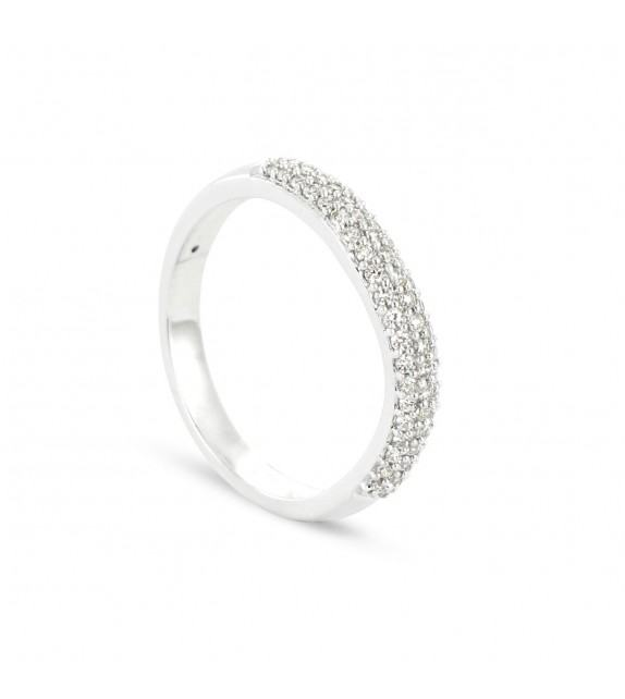 Alliance Collection Duos en Or blanc 375/00 Diamant 0,29 carat