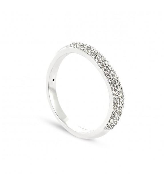 Alliance Collection Duos en Or blanc 375/00 Diamant 0,28 carat