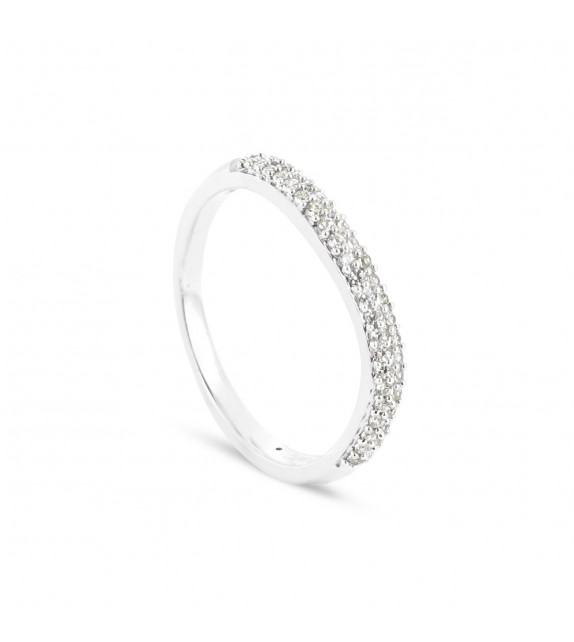 Alliance Collection Duos en Or blanc 375/00 Diamant 0,18 carat