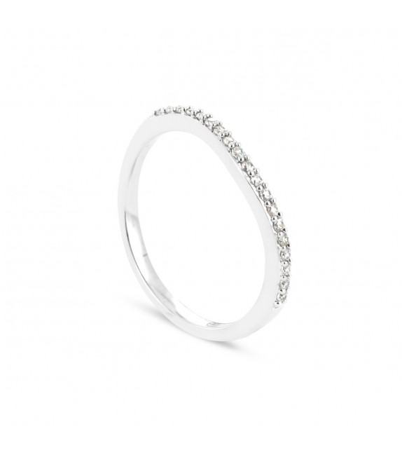 Alliance Collection Duos en Or blanc 375/00 Diamant 0,12 carat