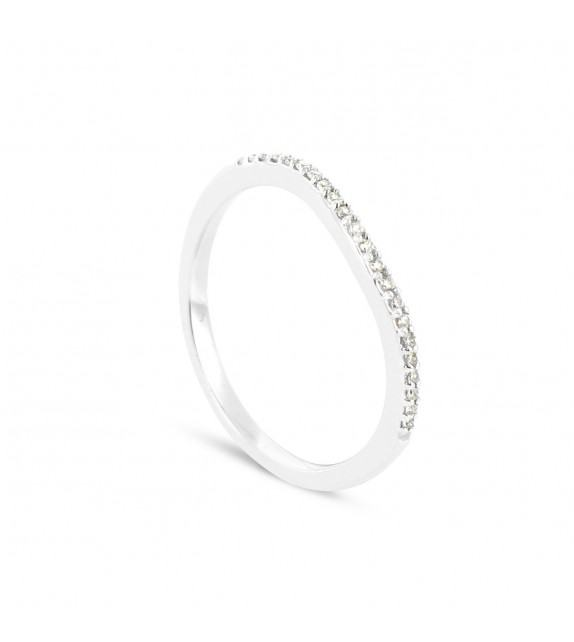 Alliance Collection Duos en Or blanc 375/00 Diamant 0,08 carat