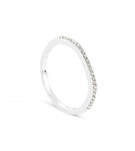 Alliance Collection Duos en Or blanc 375/00 Diamant 0,09 carat