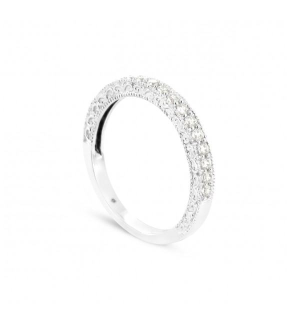 Alliance Collection Duos en Or blanc 375/00 Diamant 0,23 carat
