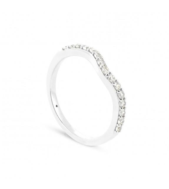 Alliance Collection Duos en Or blanc 375/00 Diamant 0,27 carat