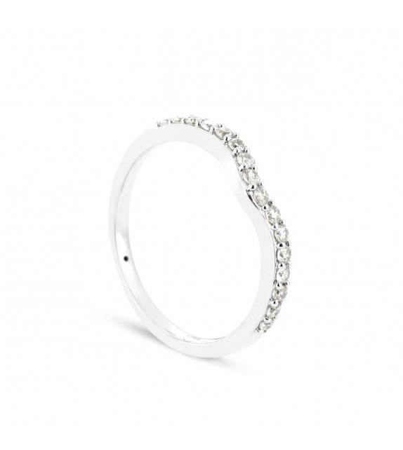 Alliance Collection Duos en Or blanc 375/00 Diamant 0,25 carat