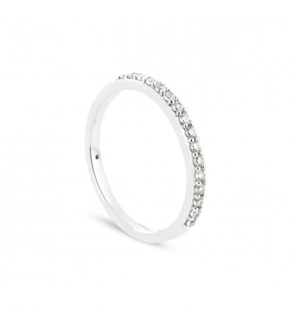 Alliance Collection Duos en Or blanc 375/00 Diamant 0,2 carat