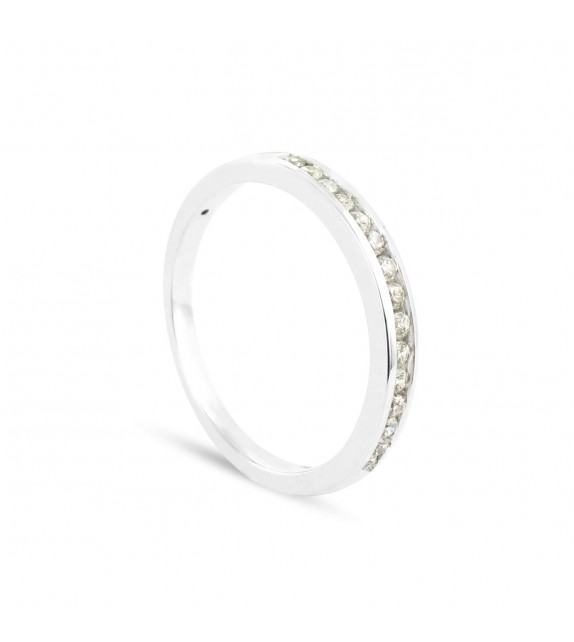 Alliance Collection Duos en Or blanc 375/00 Diamant 0,17 carat