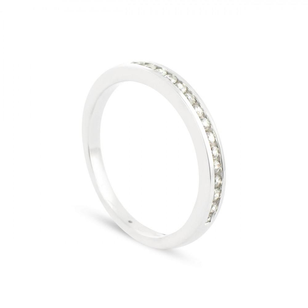 Alliance Collection Duos en Or blanc 375/00 Diamant 0,17 carat