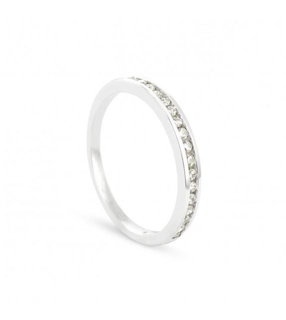 Alliance Collection Duos en Or blanc 375/00 Diamant 0,16 carat