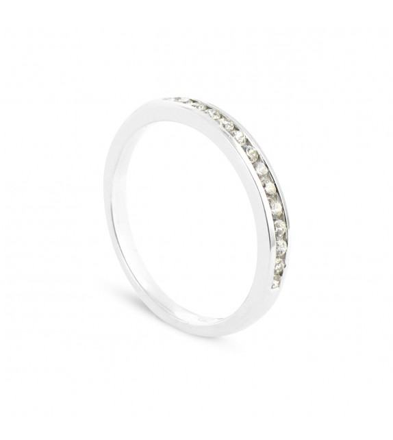 Alliance Collection Duos en Or blanc 375/00 Diamant 0,11 carat