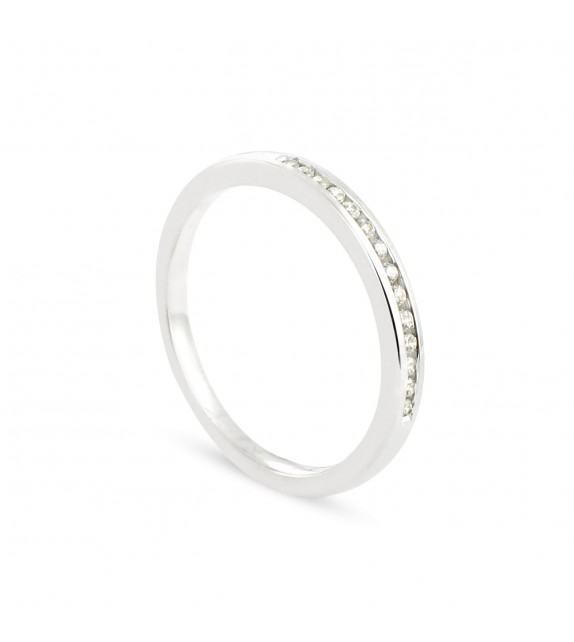 Alliance Collection Duos en Or blanc 375/00 Diamant 0,1 carat