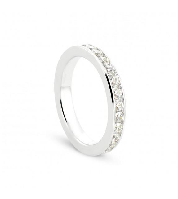 Alliance tour complet en Or blanc 375/00 Diamant 1 carat