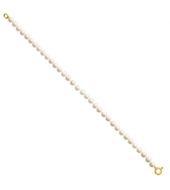 Bracelet perles d'eau douce sur Or jaune 375/00