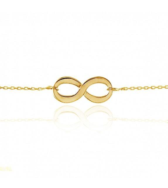 Bracelet motif infini Or jaune 375/00