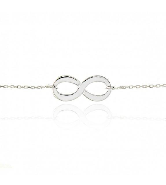 Bracelet infini en Or blanc 375/00