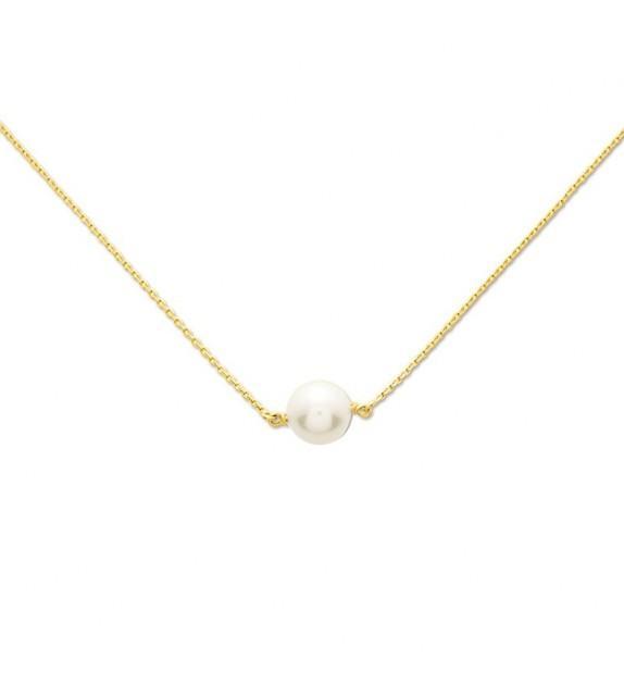 Collier perle d'eau douce sur Or jaune 375/00