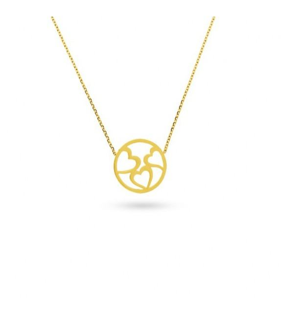 Collier cœurs en Or jaune 375/00