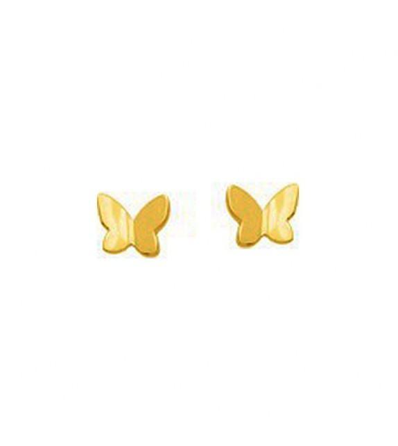 Boucles d'oreilles enfant papillon en Or jaune 375/00