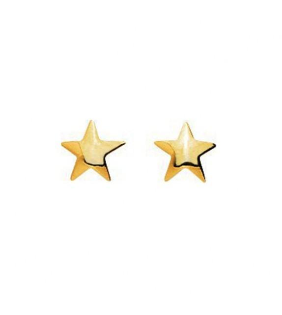Boucles d'oreilles enfant étoile en Or jaune 375/00