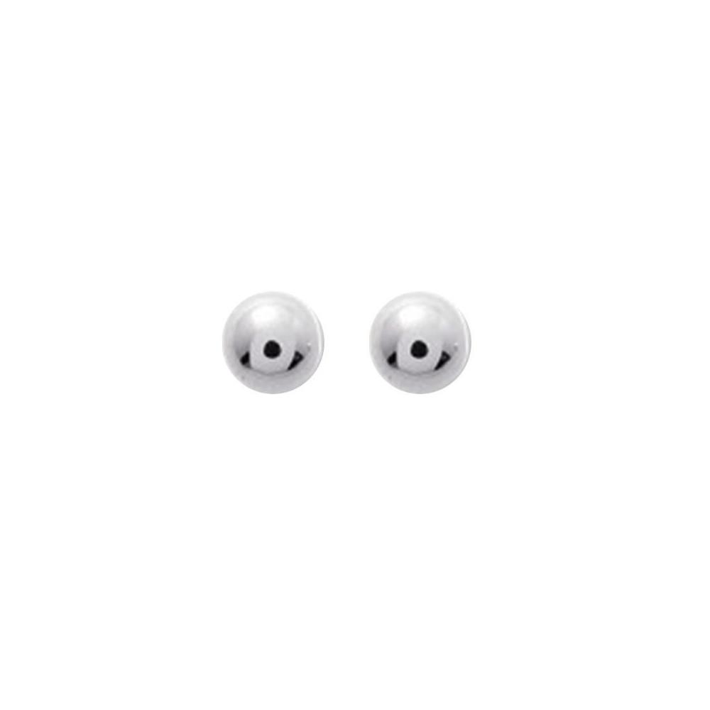 Boucles d'oreilles boules 4mm Or blanc 375/00