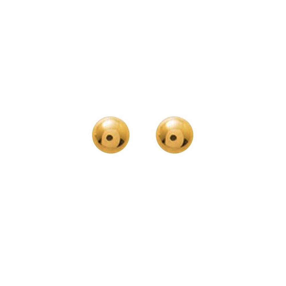 Boucles d'oreilles boules 5mm Or jaune 375/00