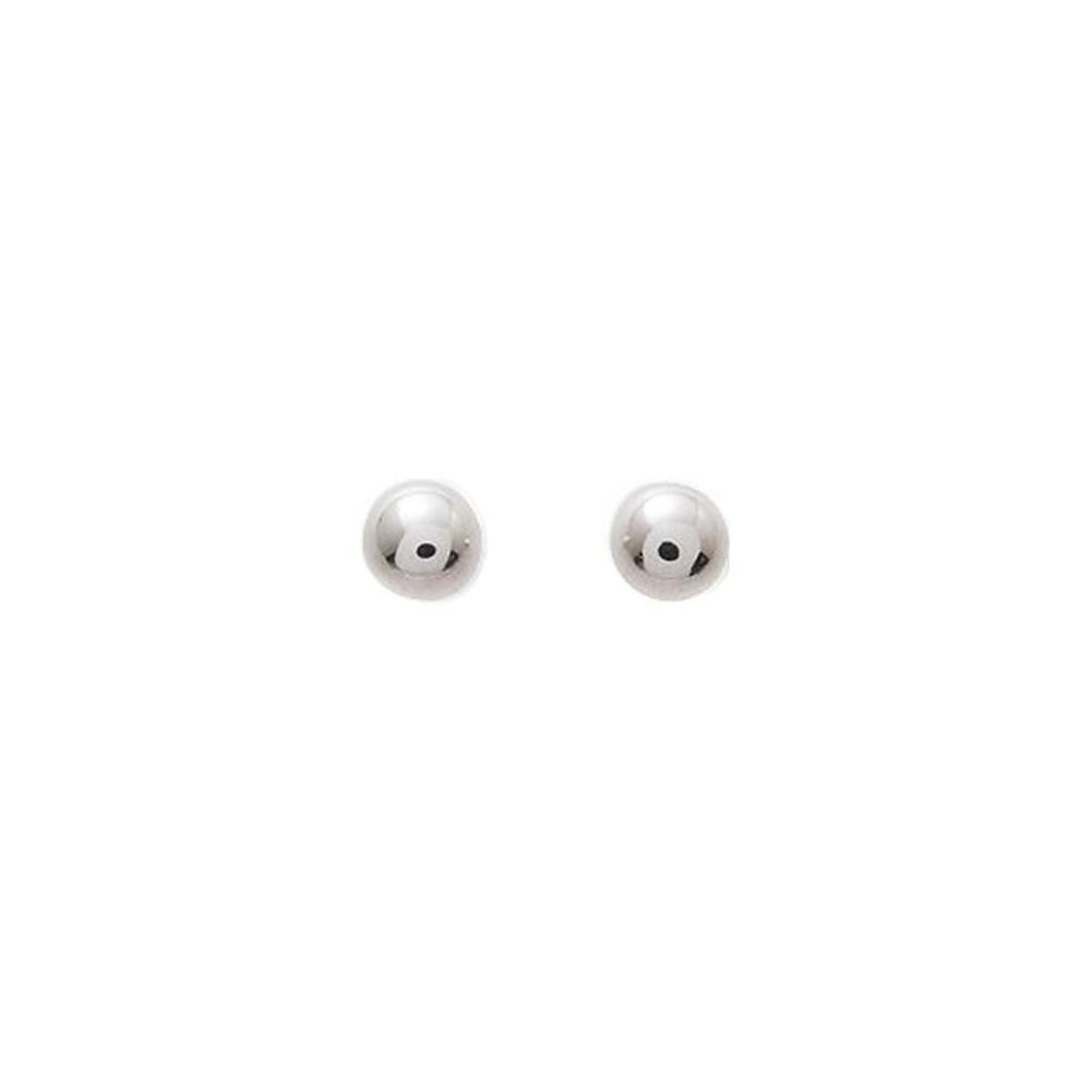 Boucles d'oreilles boules 5mm Or blanc 375/00