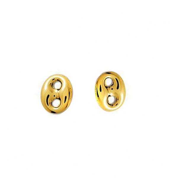 Boucles d'oreilles cœurs en Or jaune 375/00