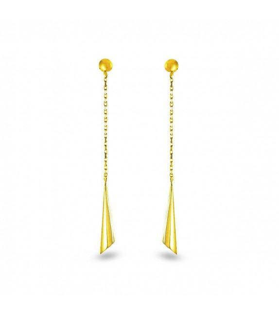 Boucles d'oreilles pendantes en Or jaune 375/00
