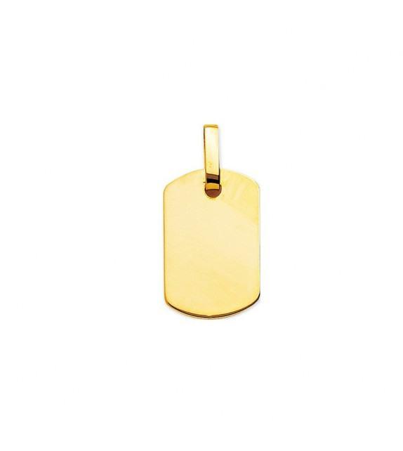 Pendentif plaque GI en Or jaune 375/00