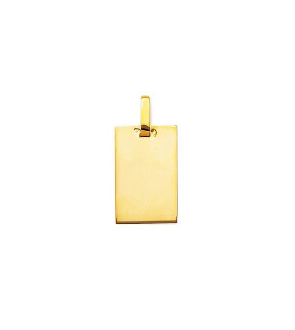 Pendentif plaque rectangulaire en Or jaune 375/00