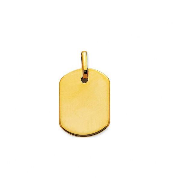 Pendentif plaque GI en Or jaune 750/00