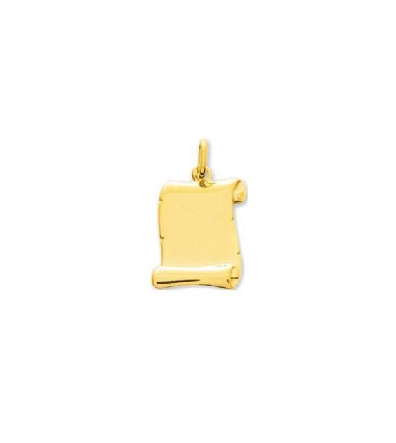 Pendentif parchemin en Or jaune 375/00