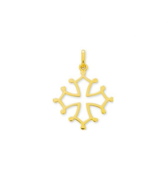 Pendentif croix occitane en Or jaune 375/00